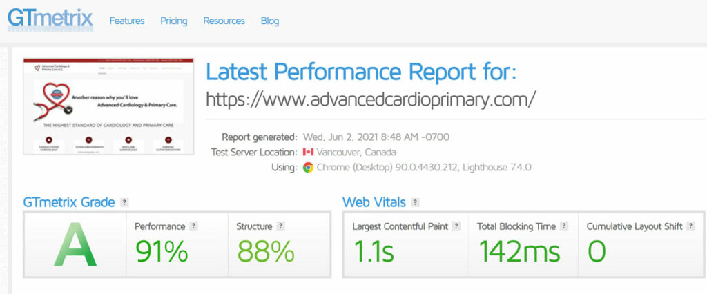 advance cardio site speed after forensic audit