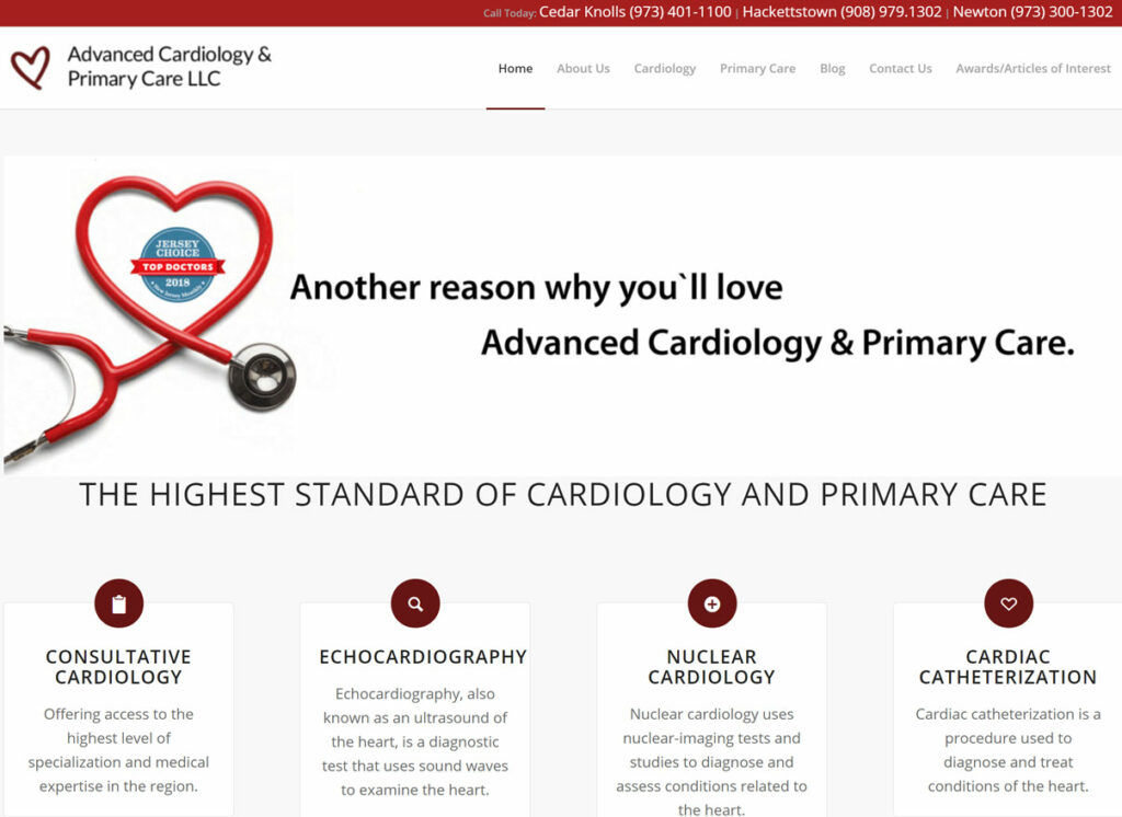 Advanced Cardio & Primary Care: WordPress
