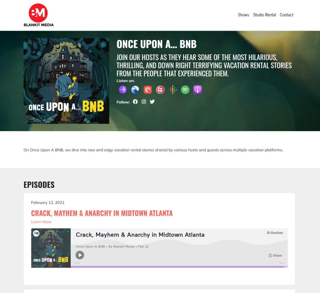 Wordpress Custom podcast show website