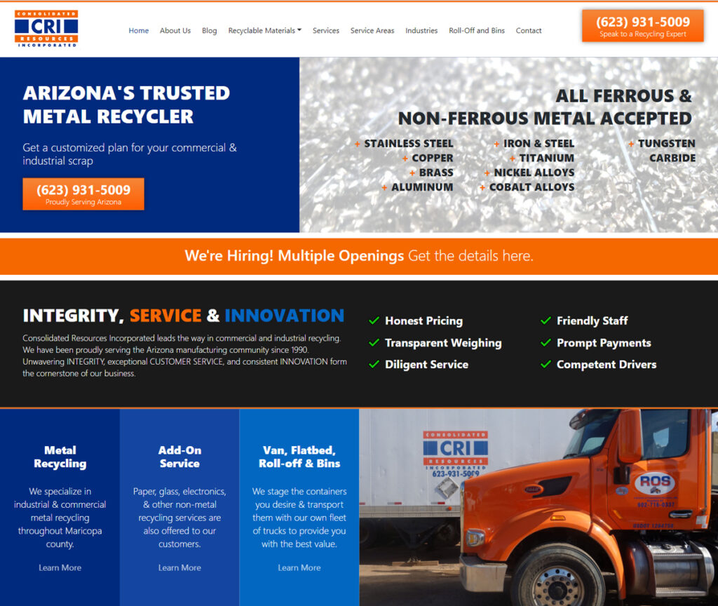 contento interactive group website design: consolidated resources inc