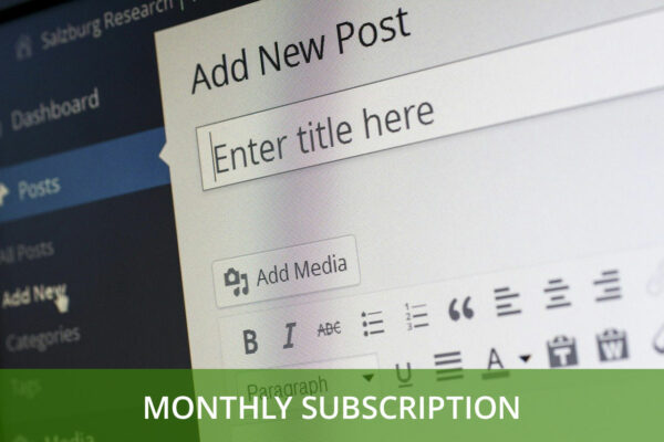 blog post writing - monthly