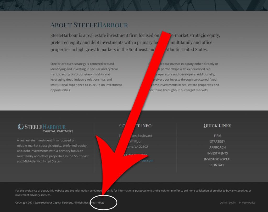 obscure blog link for seo optimization