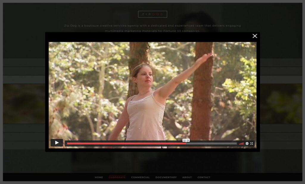 customer video lightbox